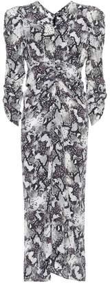 Isabel Marant Albi snake-print silk midi dress