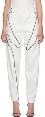 Vejas White Wetsuit Trousers