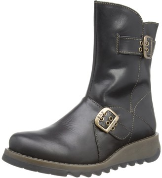 Fly London Seti Rug Women's Biker Boots - Black 5 UK (38 EU)