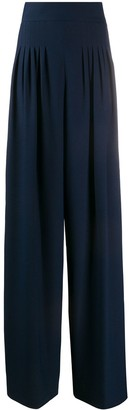 Hebe Studio High-Waisted Pleat Detail Trousers
