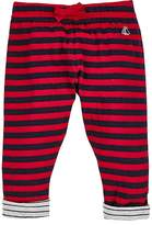 Petit Bateau STRIPED COTTON JERSEY PANTS