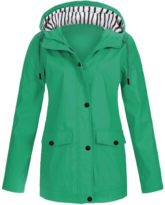 Gofodn Rain Jacket Active Outdoor Hooded Women Trench Coats Waterproof Hoody Raincoat for Hiking Skiing Trekking Travelling Windbreaker Mountaineering Gray