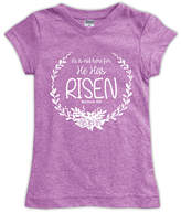 Urban Smalls Mauve 'He Has Risen' Fitted Tee - Toddler & Girls