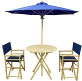 One Kings Lane Round Outdoor Dining Set, Navy