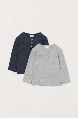 H&M 2-pack cotton Henley tops