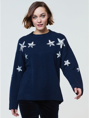 M&Co Sequin star christmas jumper
