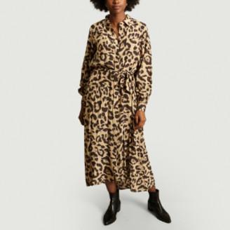 Swildens Beige Leopard Print Dress - 36
