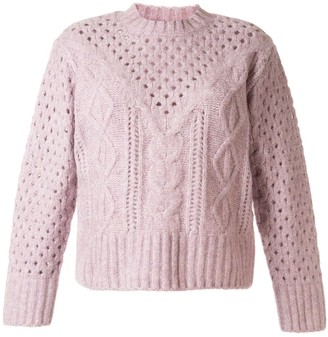 Sea Cable-Knit Relaxed-Fit Jumper