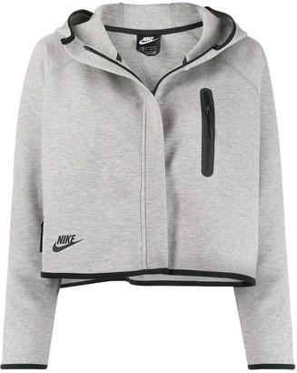Nike Tech Fleece cropped hooded jacket