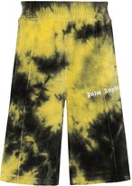 Palm Angels tie-dye chenille track shorts