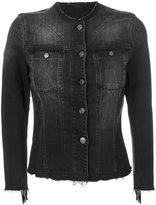 7 For All Mankind fringed denim jacket - women - Cotton/Suede - XS