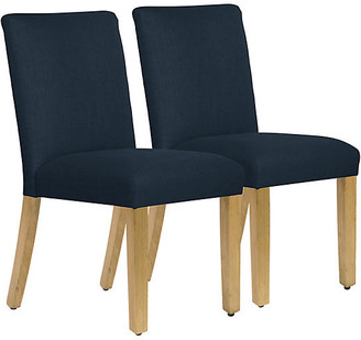One Kings Lane Set of 2 Shannon Side Chairs - Navy
