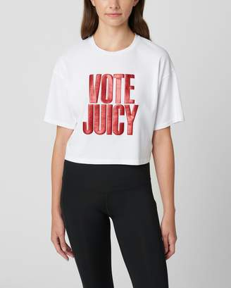 Juicy Couture VOTE JUICY GRAPHIC BOXY TEE