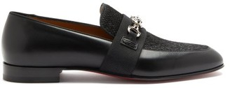 Christian Louboutin Panamax Chain-embellished Leather Loafers - Black