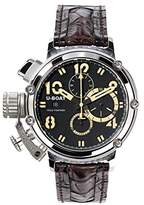 U-Boat Chimera 48mm Men's Automatic Watch with Black Dial Chronograph Display and Black Strap 7108.0