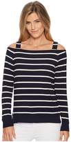 Lauren Ralph Lauren Striped Off the Shoulder Top Women's Clothing