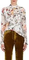 Erdem Women's Cearra Silk Chiffon Blouse