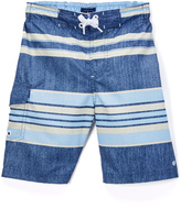 Lucky Brand Blue Stripe Board Shorts - Boys