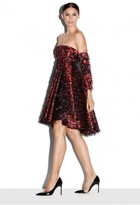 Milly Exclusive Couture Cheetah Jacquard Empire Waist Dress