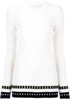 Victoria Beckham ribbed long sleeve top - women - Polyamide/Spandex/Elastane/Wool - 1