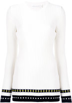Victoria Beckham ribbed long sleeve top