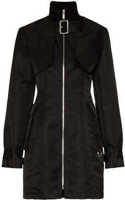 we11done detachable bomber jacket dress