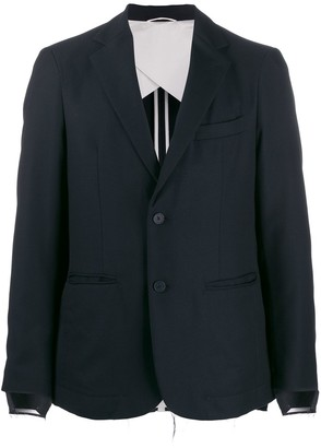 Maison Flaneur Distressed Cuff Blazer Jacket