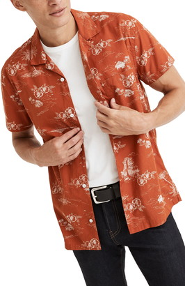 Madewell Paradise Toile Regular Fit Short Sleeve Button-Up Camp Shirt