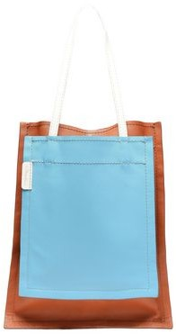3.1 Phillip Lim Slim Accordion Paneled Color-block Leather Tote