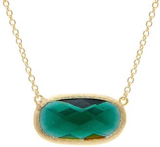 Rivka Friedman 18K Plated Crystal Necklace