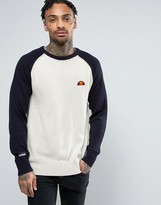 Ellesse Knitted Raglan Sweater With Small Logo