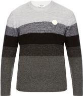 Kenzo Logo-appliqué striped wool-blend sweater