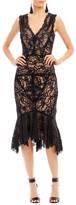Nicole Miller Lace Mermaid Dress