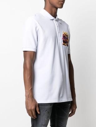 Philipp Plein Logo-Print Short-Sleeved Polo Shirt
