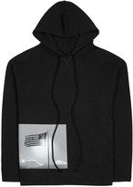 Raf Simons Black Printed Hooded Cotton Sweatshirt