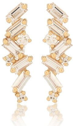 Suzanne Kalan Fireworks 18kt gold earrings with diamonds