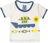 Kickee Pants Piece Print Tee (Baby) - Fish & Boat-0-3 Months