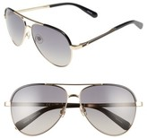 Kate Spade Women's Amaris 59Mm Sunglasses - Gold/ Black