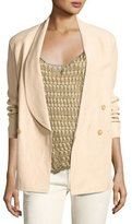 Ralph Lauren Nelson Shawl-Collar Double-Breasted Jacket, Beige