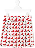 Marni graphic print pleated skirt