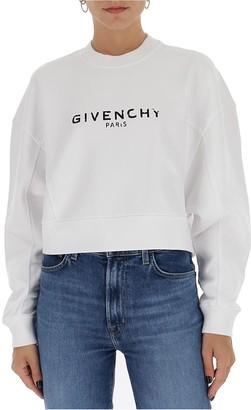 Givenchy Logo Printed Cropped Sweatshirt