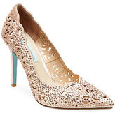 Betsey Johnson Elsa Embellished Fabric Cutout Pumps