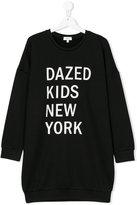 DKNY Teen logo print sweatshirt dress
