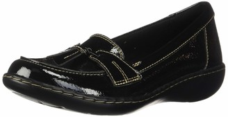 Clarks Women's Ashland Bubble Loafer Burgundy Patent Leather 8 M US