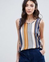 Vila Stripe Sleeveless Blouse