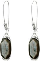 Robert Lee Morris Grey Stone Shepherd Hook Earrings