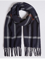 M&S Collection Windowpane Woven Scarf
