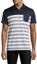 J. Lindeberg Jersey Striped Polo