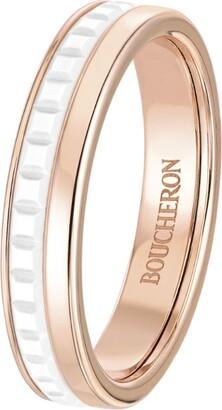 Boucheron Rose Gold Quatre White Edition Wedding Band