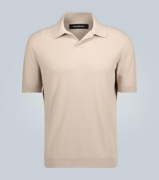 Ermenegildo Zegna Short-sleeved knitted cotton polo